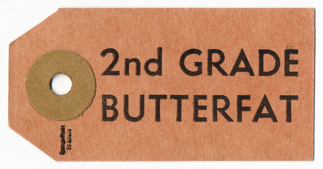 """2nd Grade Butterfat"" Tag"