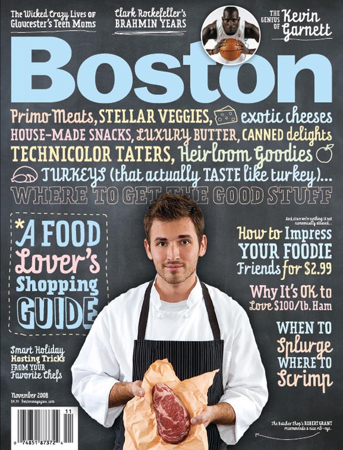 Boston Magazine, Nov. 2008, Food Issue