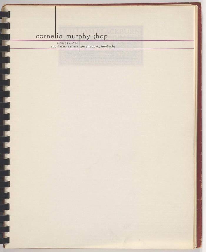 Cornelia Murphy Shop letterhead 1