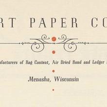 Gilbert Paper Company letterhead