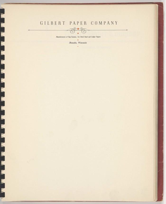 Gilbert Paper Company letterhead 1
