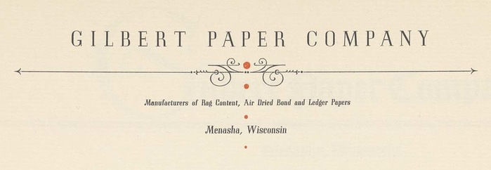 Gilbert Paper Company letterhead 2
