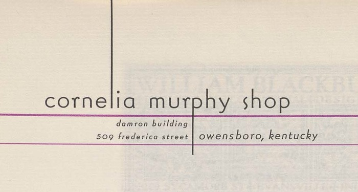 Cornelia Murphy Shop letterhead 2