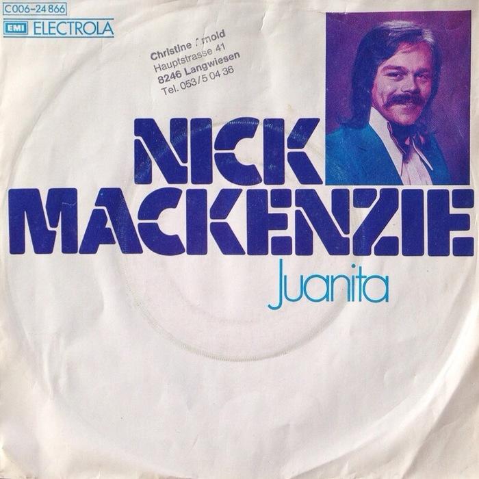 "Nick Mackenzie – ""Juanita"" / ""Oh Woman"" German single cover"