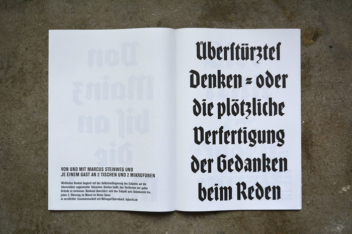 The schmal (condensed) cut of Rudolf Koch's Wallau is another typeface that was released in 1934.