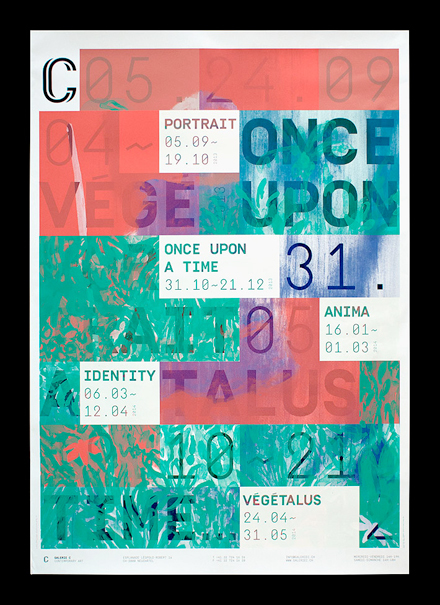 Posters for Galerie C, 2013–2014 Season 1