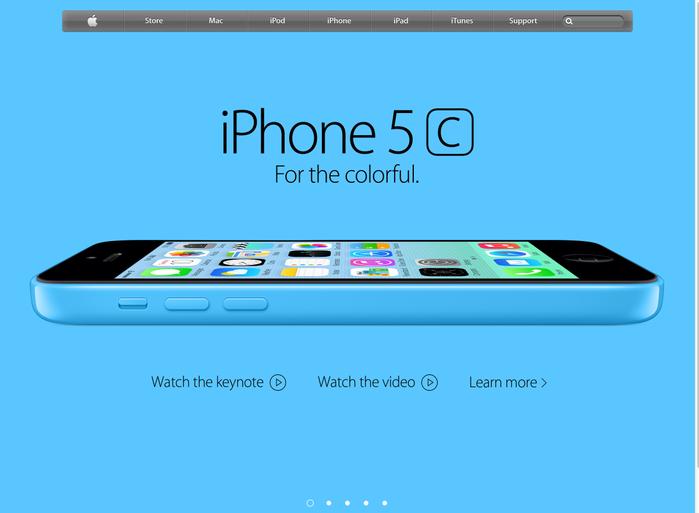 Apple.com homepage