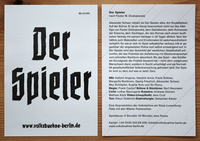 The backside of each sticker holds information about the event. This text is presented rather conventionally, in Akzidenz-Grotesk.