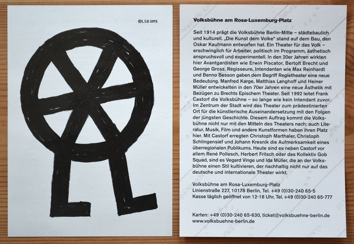 Volksbühne Berlin flyers and leaflets 5