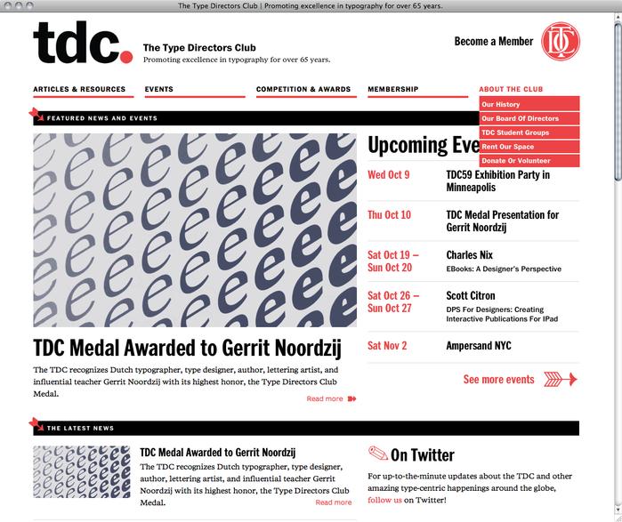 Type Directors Club website 1