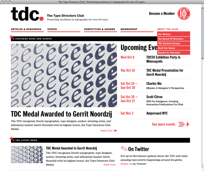 Type Directors Club Website 1