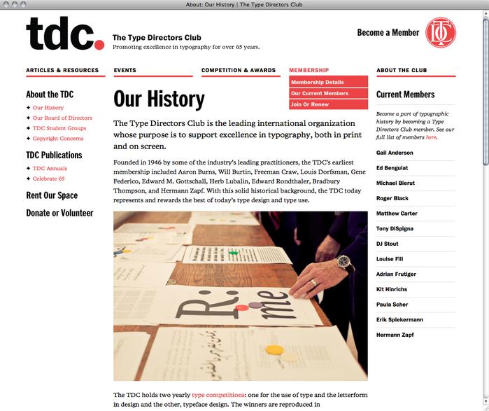 Type Directors Club website 2