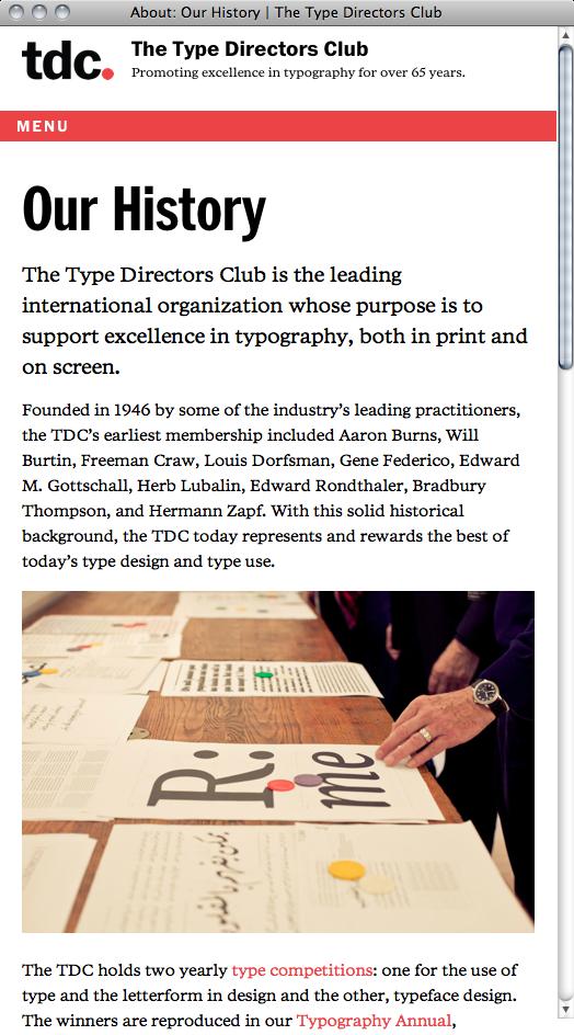 Type Directors Club Website 4