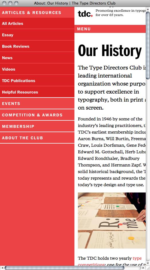 Type Directors Club Website 5