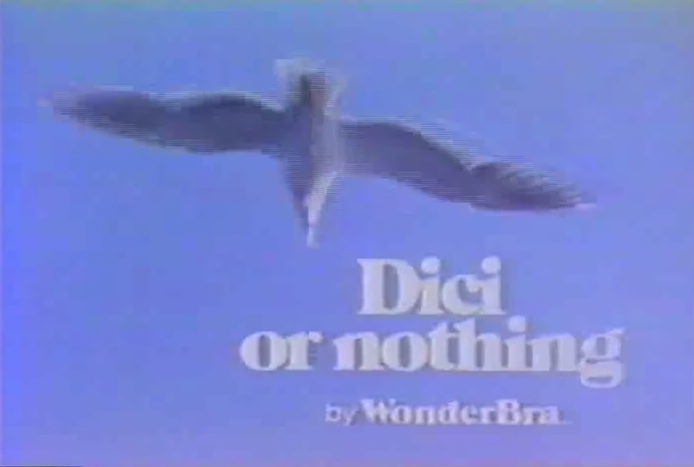 A 1974 television ad for Dici, a Wonderbra brand for teens.