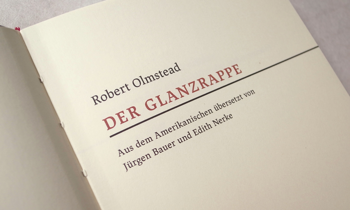 Der Glanzrappe by Robert Olmstead 2