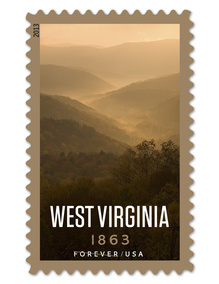 West Virginia Statehood stamp