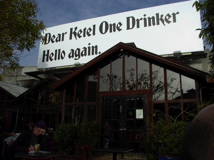 """Dear Ketel One Drinker"" Ad Campaign 3"