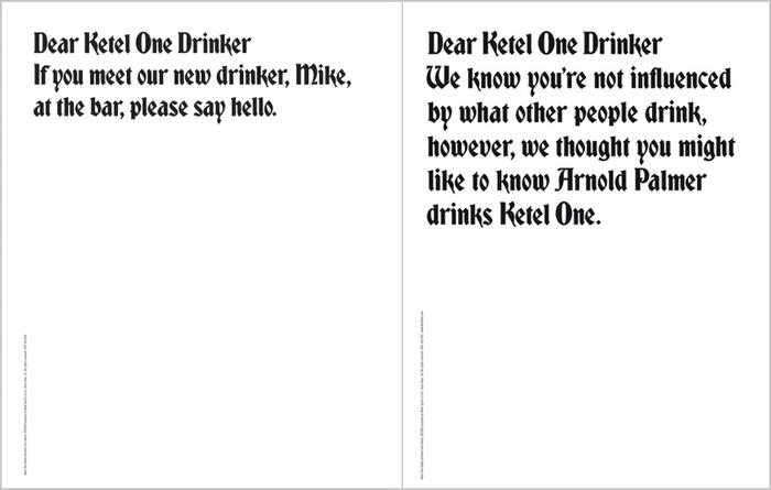 """""""Dear Ketel One Drinker"""" Ad Campaign 7"""