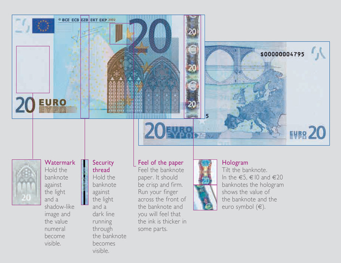 Euro banknotes (first & second series) 4