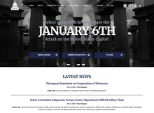 Select Committee to Investigate the January 6th Attack on the U.S. Capitol website