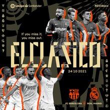 """LaLiga Santander, """"ElClásico"""" logo 2021/22"""