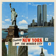 """""""Greetings from New York The Wonder City"""" postcard"""