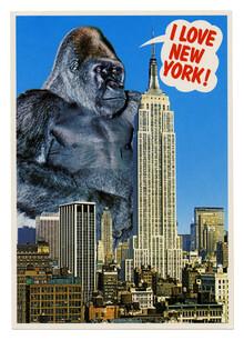 """I Love New York!"" postcard"