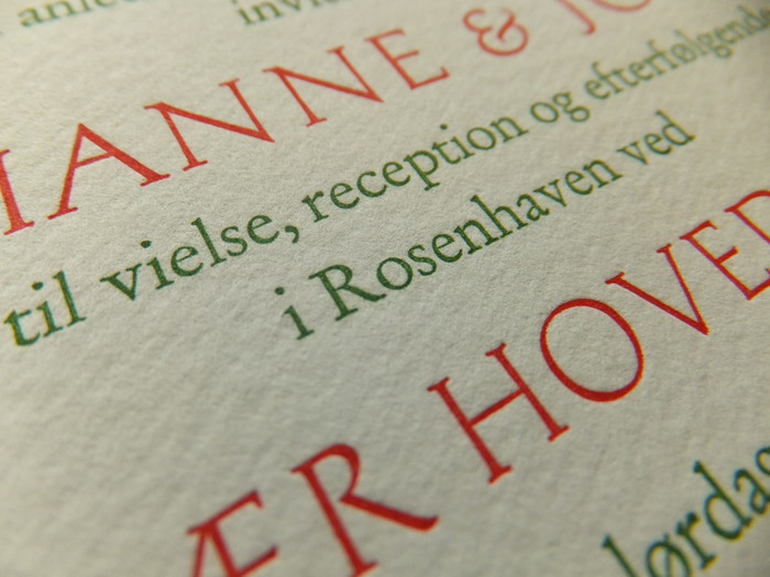 Marianne & Johan wedding invitation 1