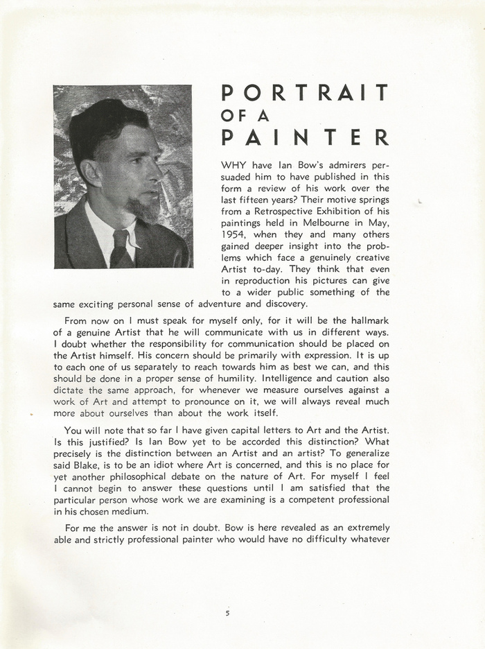 """The Art of Ian Bow: """"Portrait of a Painter"""""""