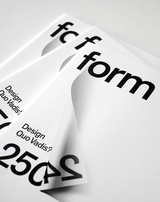 form Magazine, 2013 redesign 1