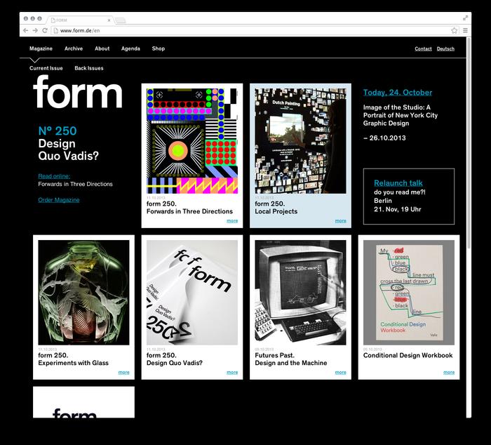 form Magazine Website 1