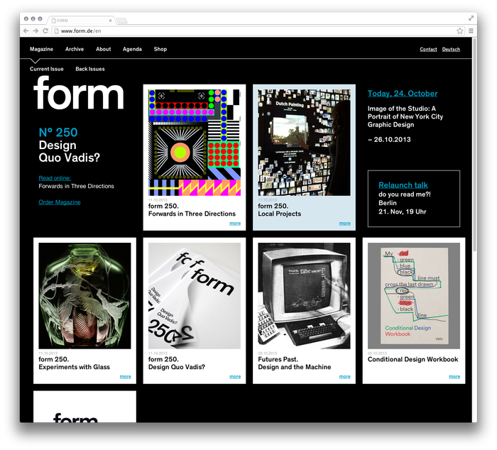 form Magazine Website 1