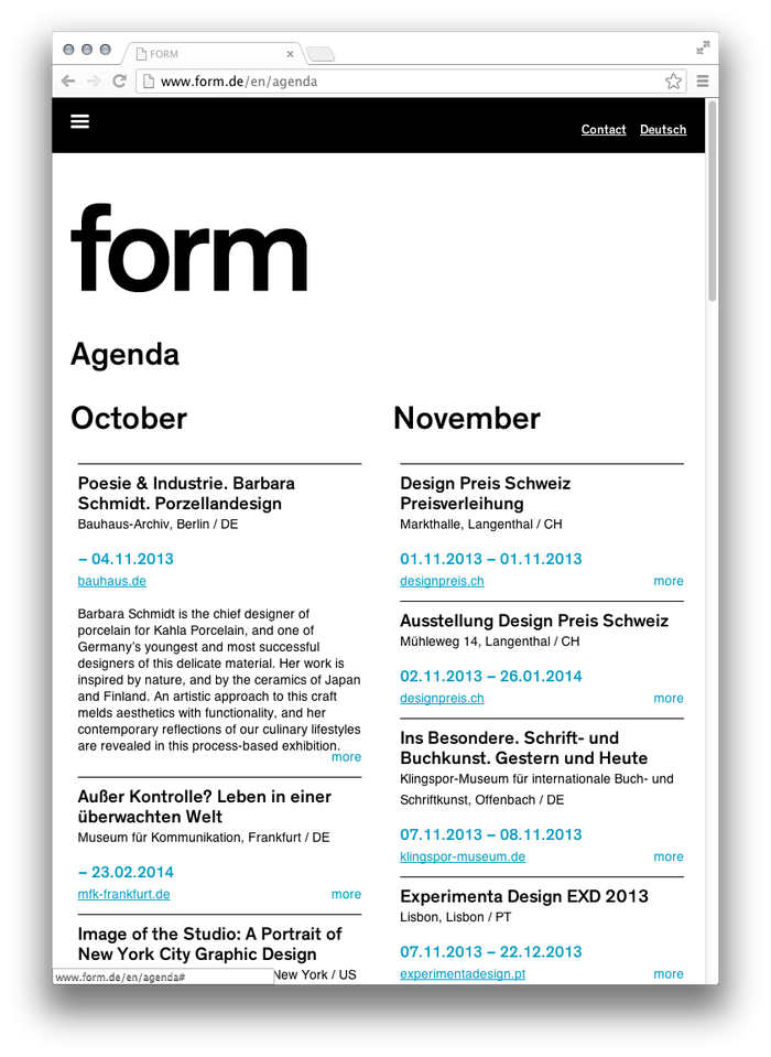 form Magazine Website 2