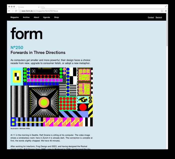 form Magazine Website 3