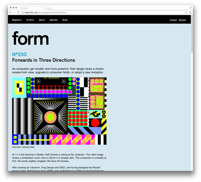 form Magazine Website 3