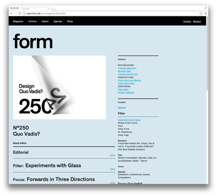form Magazine Website 4