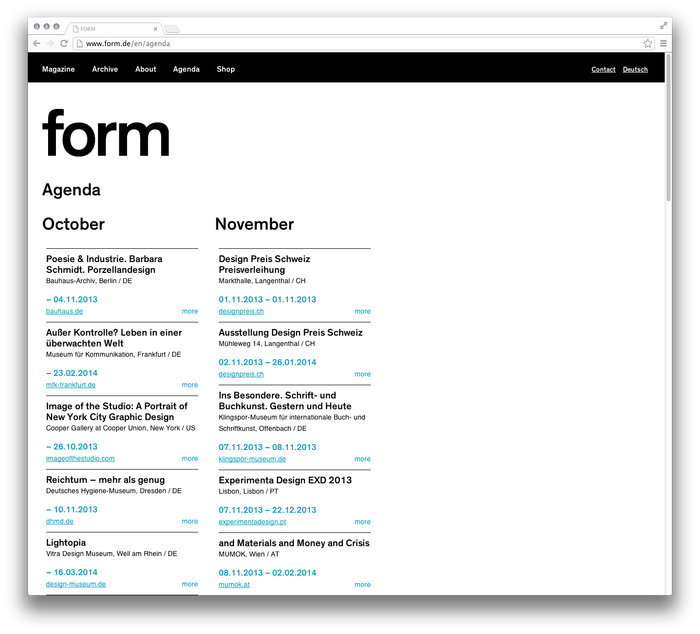 form Magazine Website 5