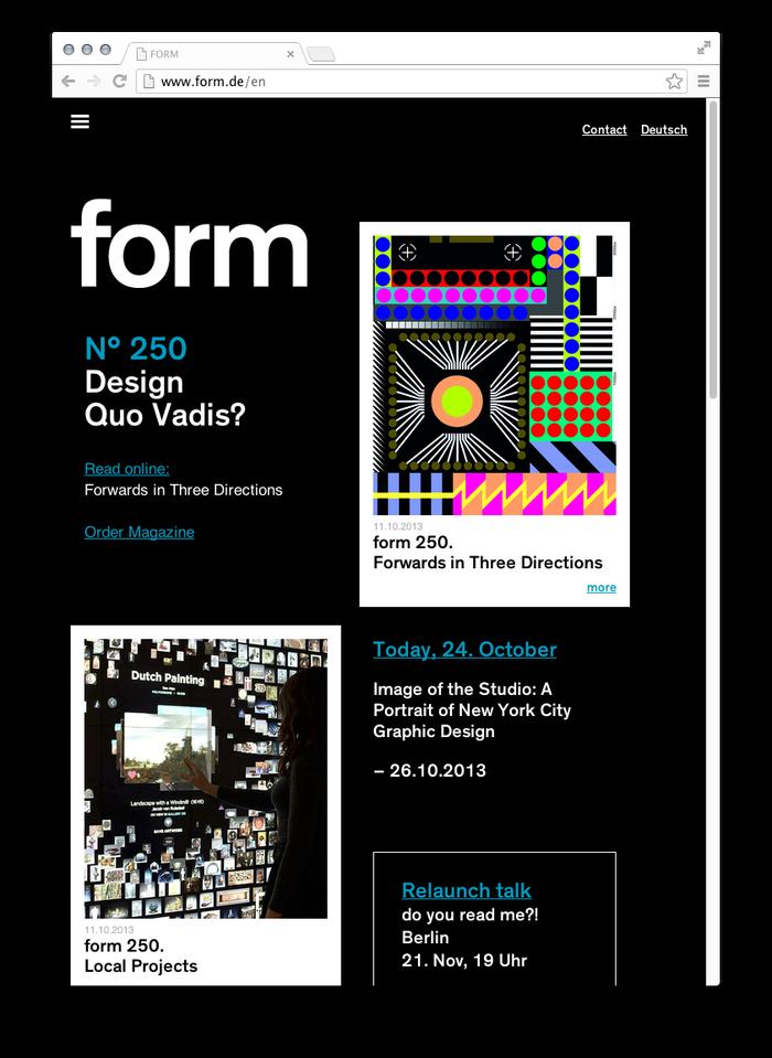 form Magazine Website 6