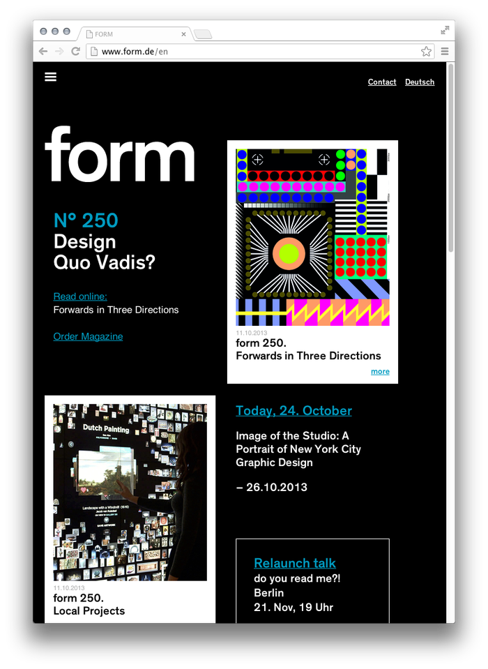 form Magazine Website 6