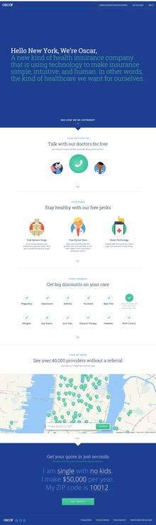 Oscar Health Insurance website