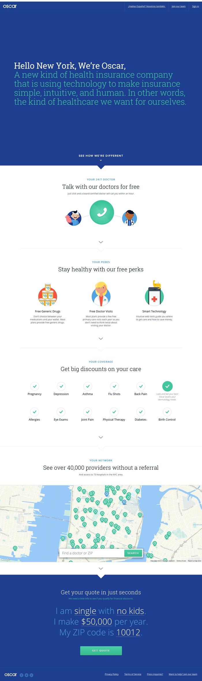 Oscar Health Insurance website