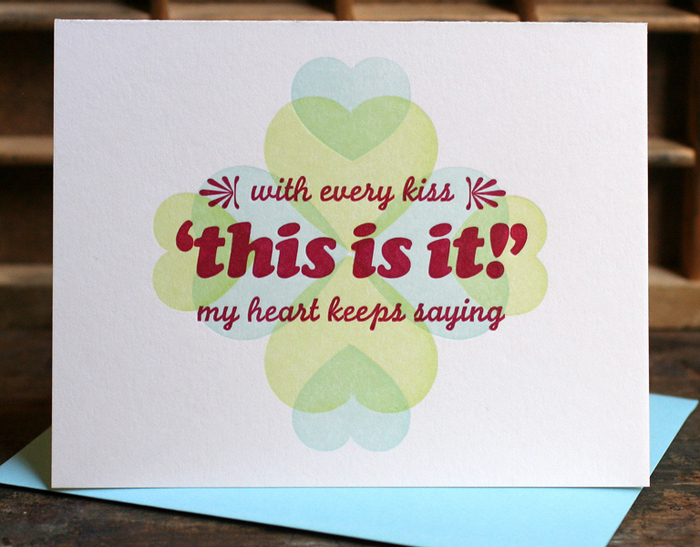 """This Is It"" valentine card 2"