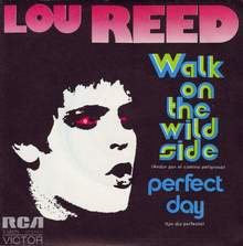 "Lou Reed – ""Walk On The Wild Side"" / ""Perfect Day"" Spanish single cover"