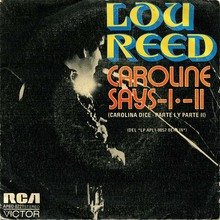 "Lou Reed – ""Caroline Says I / II"" Spanish single cover"