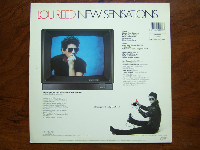 New Sensations by Lou Reed 2