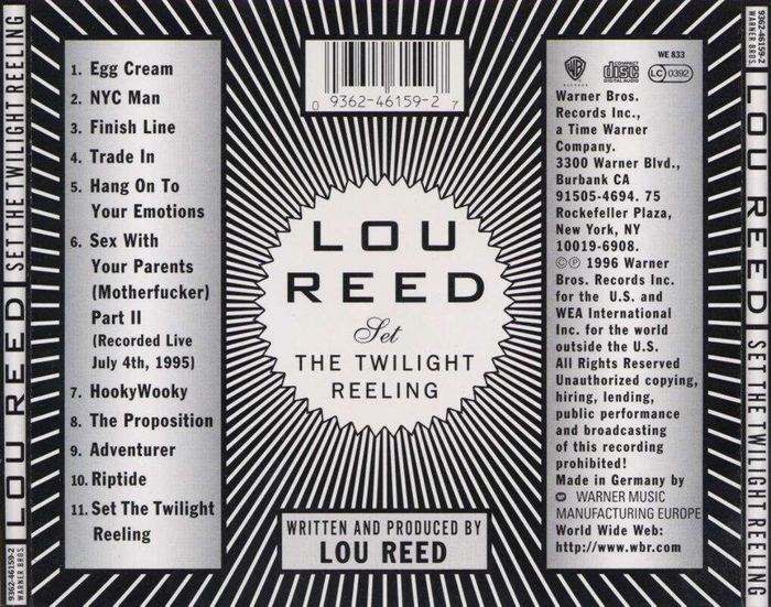 Lou Reed – Set the Twilight Reeling album art 5