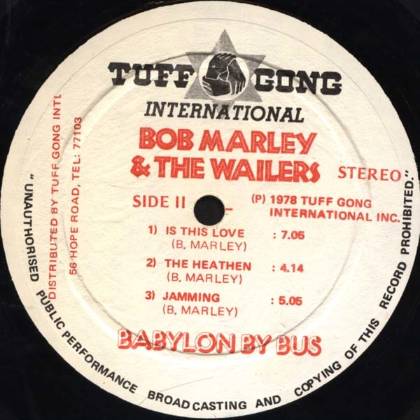 Babylon By Bus by Bob Marley & The Wailers 5