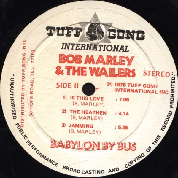 Bob Marley & The Wailers – Babylon By Bus album art 5