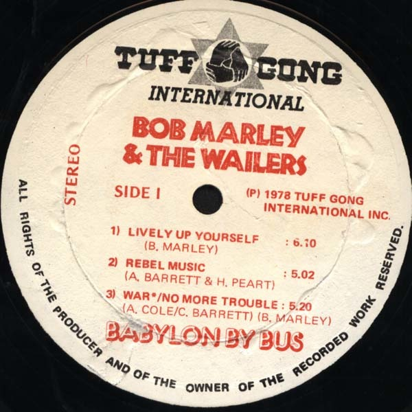 Bob Marley & The Wailers – Babylon By Bus album art 6